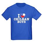 I Love Chilean Boys Kids Dark T-Shirt