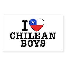 I Love Chilean Boys Decal
