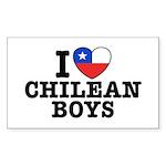 I Love Chilean Boys Sticker (Rectangle)