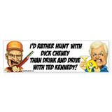 Cheney Hunting Bumper Bumper Sticker