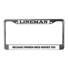 Lineman Hero License Plate Frame