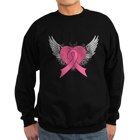 Grunge Heart Breast Cancer Sweatshirt (dark)