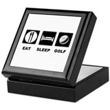 Eat Sleep Golf Keepsake Box