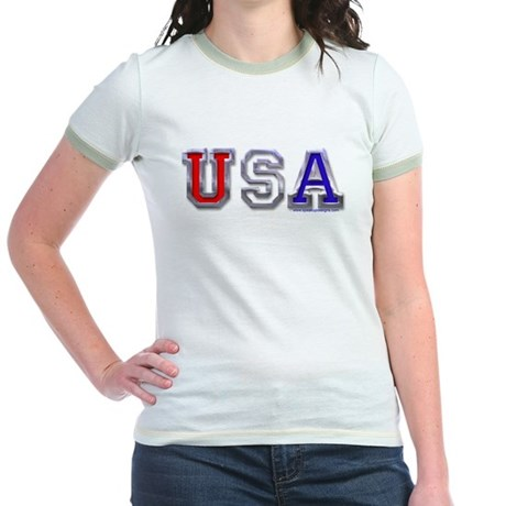 USA Chrome Jr. Ringer T-Shirt