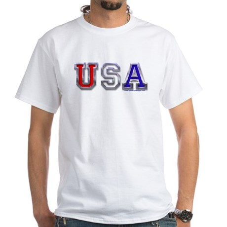 USA Chrome White T-Shirt