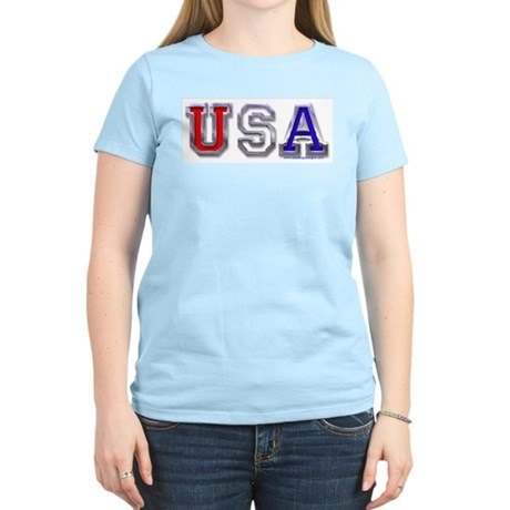 USA Chrome Women's Pink T-Shirt