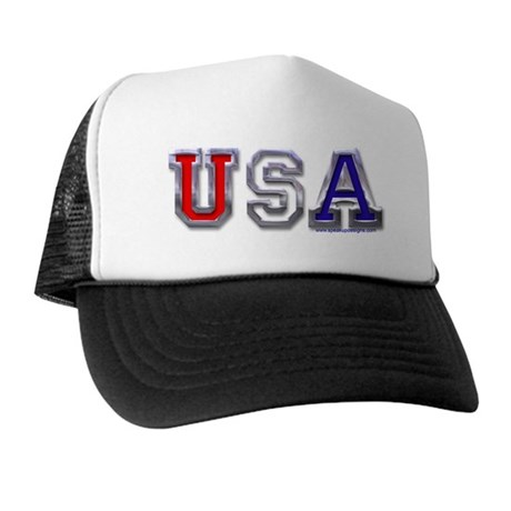 USA Chrome Trucker Hat
