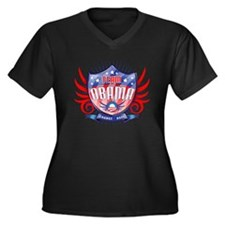 Team Obama Women's Plus Size V-Neck Dark T-Shirt