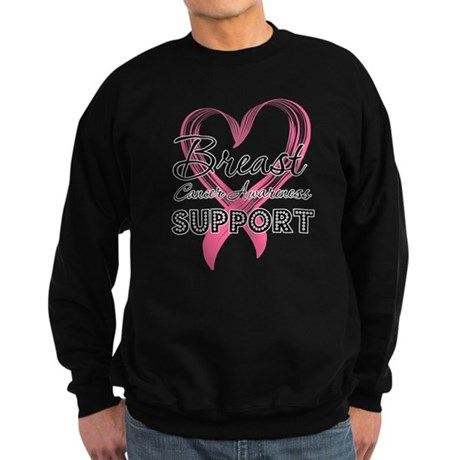 Support Breast Cancer Sweatshirt (dark)