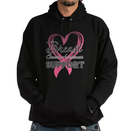 Support Breast Cancer Hoodie (dark)