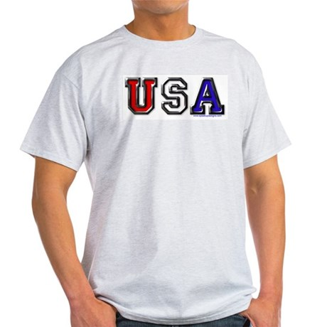 USA Black Chrome Ash Grey T-Shirt