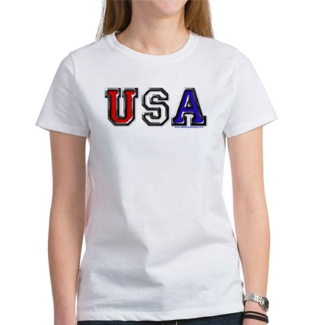 USA Black Chrome Women's T-Shirt
