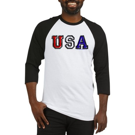USA Black Chrome Baseball Jersey