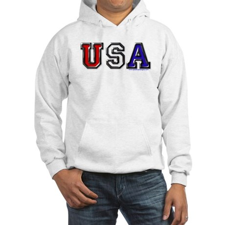 USA Black Chrome Hooded Sweatshirt
