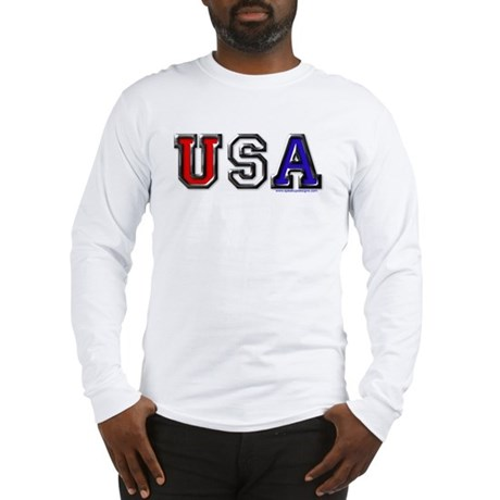 USA Black Chrome Long Sleeve T-Shirt