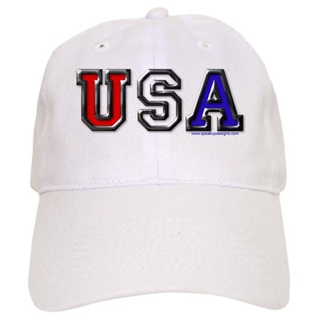 USA Black Chrome Cap