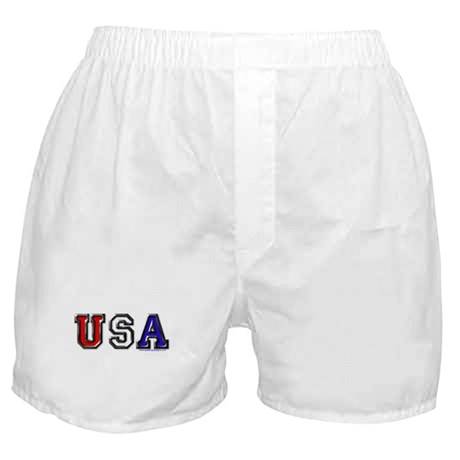 USA Black Chrome Boxer Shorts