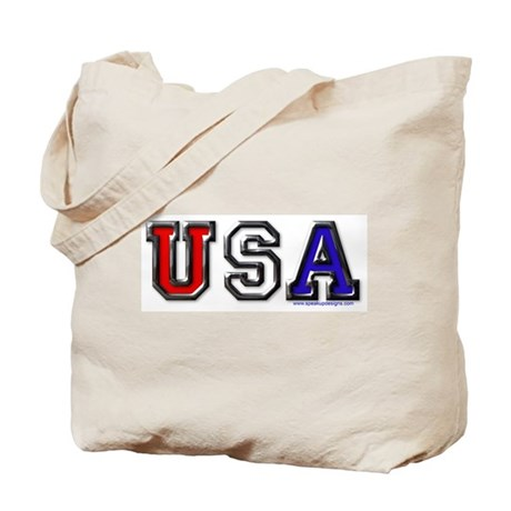 USA Black Chrome Tote Bag