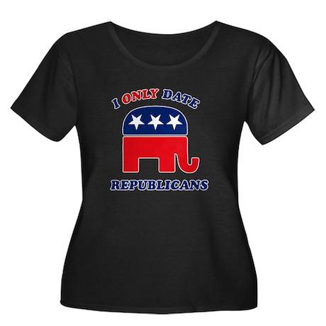 I Only Date Republicans Women's Plus Size Scoop Ne