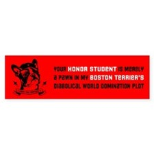 Boston Terrier Honor Student Bumper Bumper Sticker
