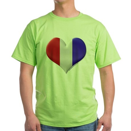 Heart - Red, White, & Blue Green T-Shirt