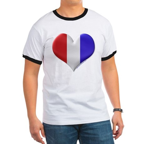 Heart - Red, White, & Blue Ringer T