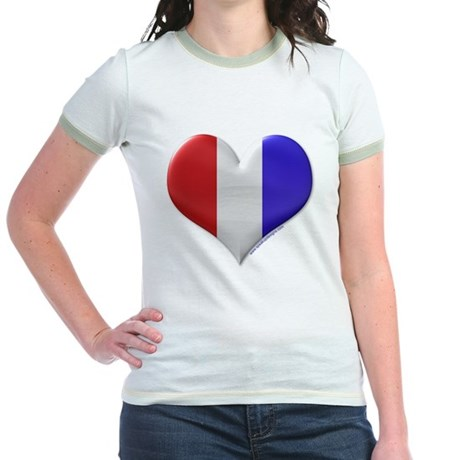 Heart - Red, White, & Blue Jr. Ringer T-Shirt