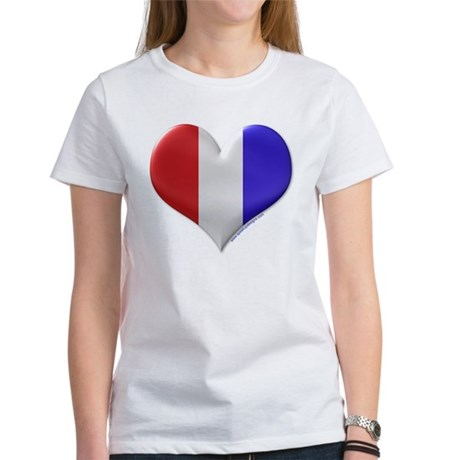 Heart - Red, White, & Blue Women's T-Shirt