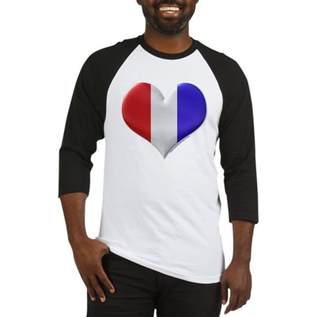 Heart - Red, White, & Blue Baseball Jersey