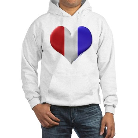 Heart - Red, White, & Blue Hooded Sweatshirt