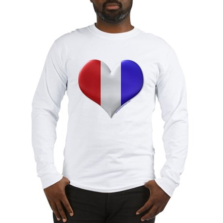 Heart - Red, White, & Blue Long Sleeve T-Shirt