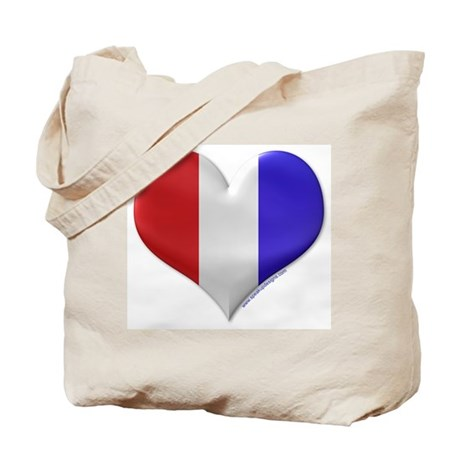 Heart - Red, White, & Blue Tote Bag