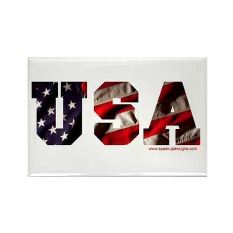 USA Flag Rectangle Magnet (10 pack)