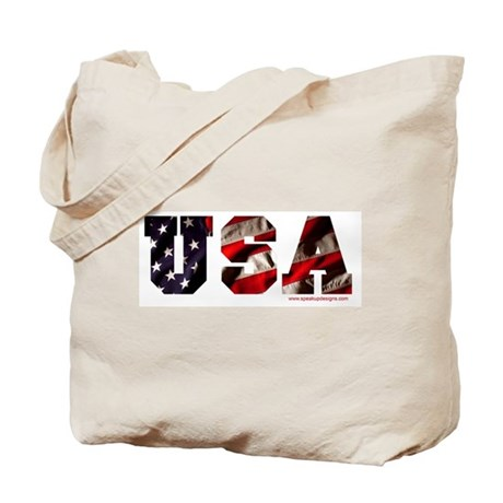 USA Flag Tote Bag