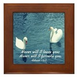 Hebrews 13:5 Framed Tile