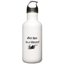 Get thee to a library Water Bottle