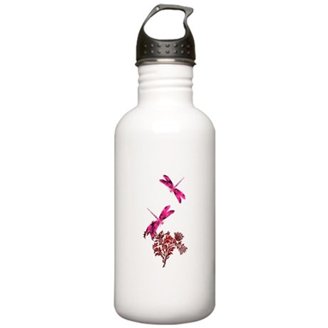 Pink Dragonfly Stainless Water Bottle 1.0L