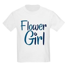 Cool Country Flower Blue Kids T-Shirt