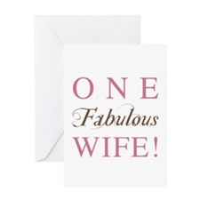 One Fabulous Wife Greeting Card