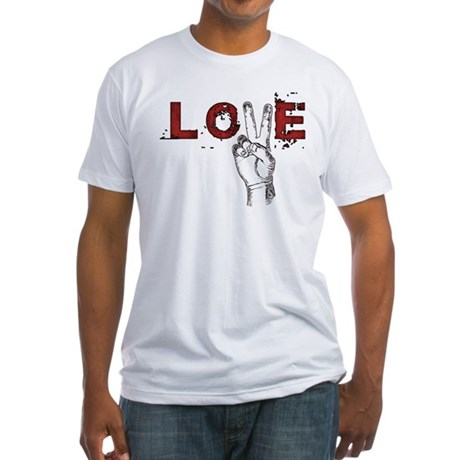 Love Peace V Men's Fitted T-Shirt