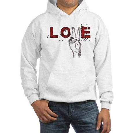 Love Peace V Men's Hooded Sweatshirt