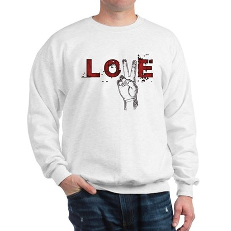Love Peace V Men's Sweatshirt