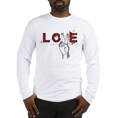 Love Peace V Men's Long Sleeve T-Shirt