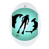 SCUBA Diver Oval Ornament