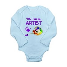 Yes I Am an Artist Long Sleeve Infant Bodysuit