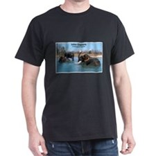 Indian Elephants Photo (Front) Black T-Shirt