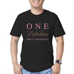 One Fabulous Great Grandma Men's Fitted T-Shirt (d