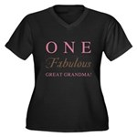 One Fabulous Great Grandma Women's Plus Size V-Nec