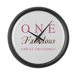One Fabulous Great Grandma Large Wall Clock