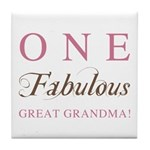 One Fabulous Great Grandma Tile Coaster